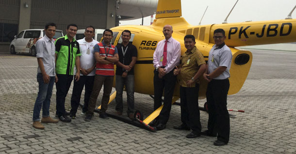 Mornington Sanford Aviation in Indonesia