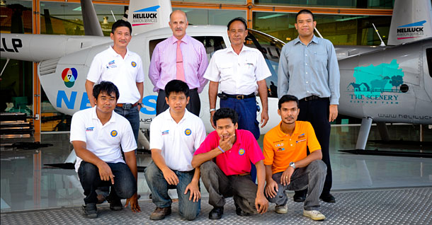 Robinson R44 Maintenance course Heliluck Bangkok January 2012